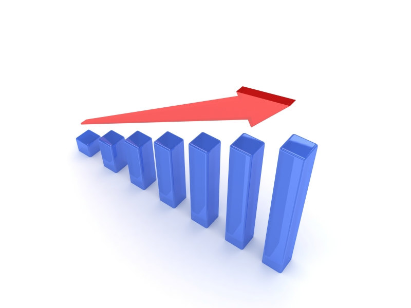 4385170-business-graph-with-rising-arrow-concept-3d-illustration